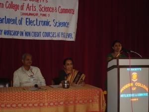 Ms Archana Deshmukh, Dr. Sulabha Deuskar and prof S.R. Chaudhari