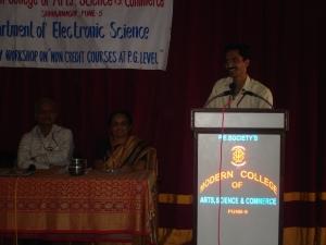 Mr. Anad Budhikoth , Dr. Sulabha Deuskar and Prof. S.R.Chaudhari