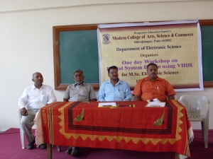 L-R Mr. D.B. Gaikwad,Mr. Z.B. Pathan,Dr. A.D. Shaligram, Mr. S.S.Deshmukh