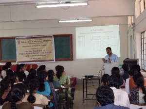 Dr. A.D.Shaligram delivering a lecture.